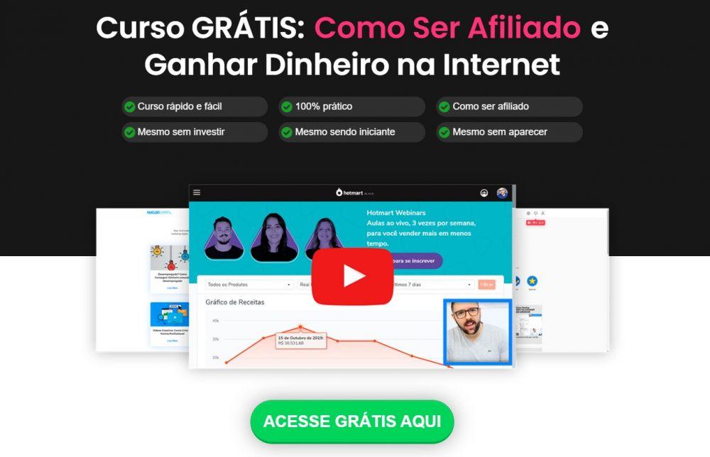 Curso GRÁTIS: Como Ser Afiliado e Ganhar Dinheiro na Internet