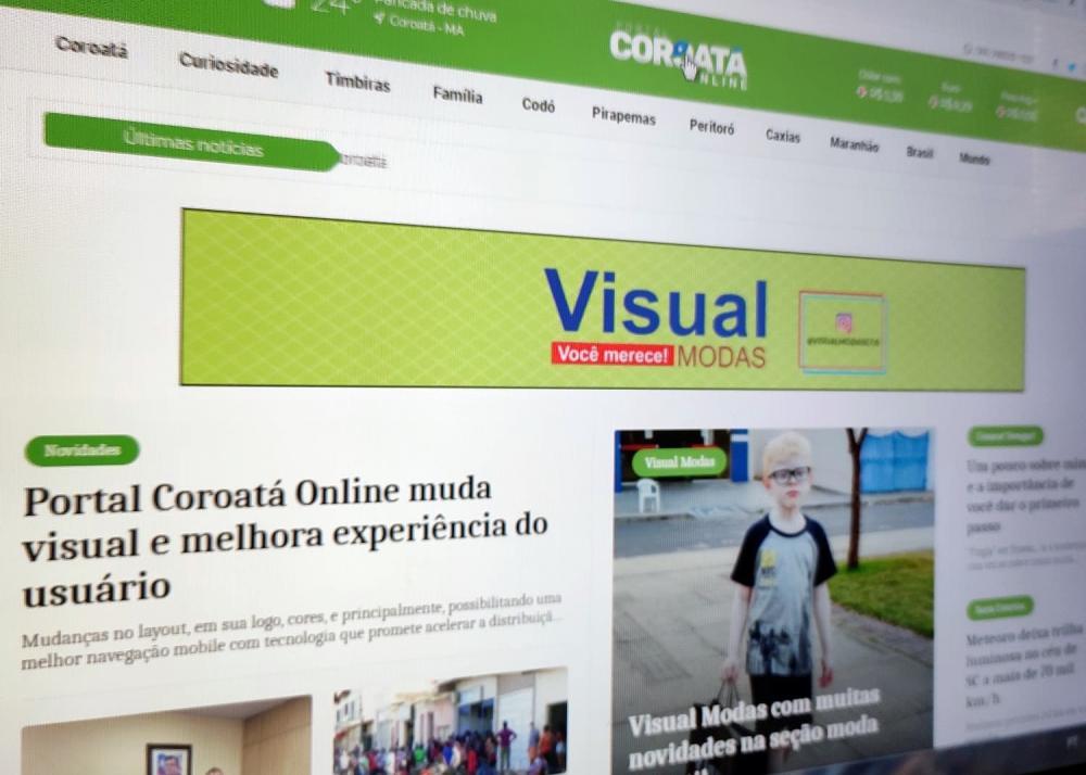 Novo formato do portal Coroatá Online